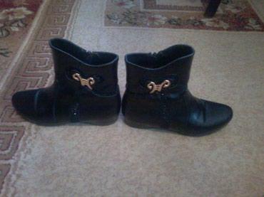 Полу ботиночки деми, черного цвета, в Бишкек