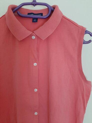 Lands end polo majica roze. Vrlo kvalitetna. Vel S