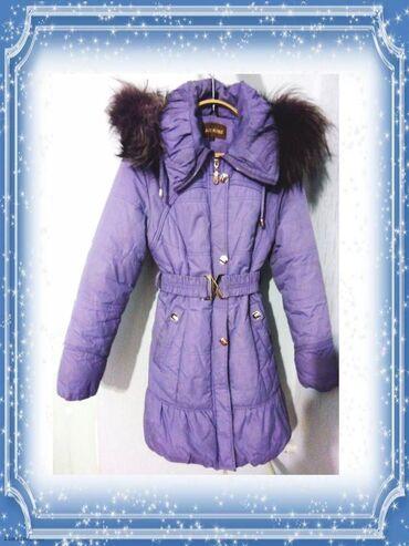 куртки для новорожденных в Кыргызстан: Продается зимняя женская куртка, размер 40-42, б/у, в отличном