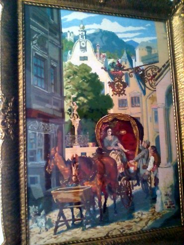 Slike | Kragujevac: Original Vilerov goblen. Original sema, original platno, original konc