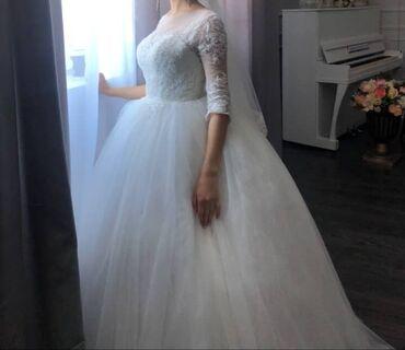 спортивные платья больших размеров в Кыргызстан: Продаю свадебное платье Размер 42-44 5000 сом