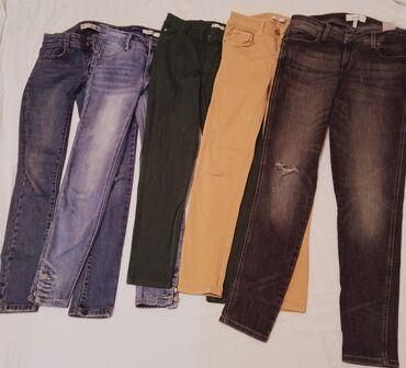 Продаю турецкие джинсы (б/у) по 350 сомов /синий,голубой,зелёный,жёлты
