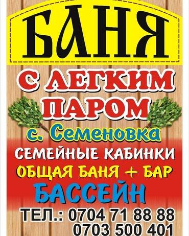 Баня село Семёновка  в Семеновка