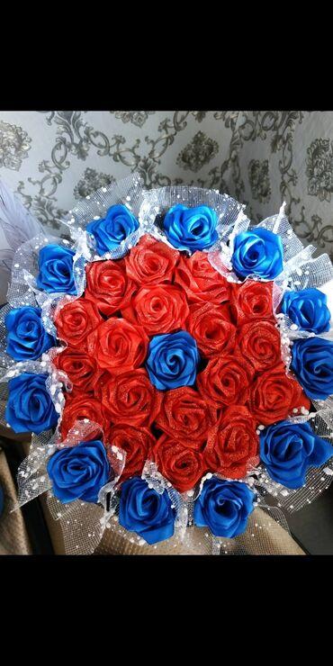 букеты ручной работы в Кыргызстан: Цветы в шляпной коробке. Полностью ручная работа. Отличный подарок и