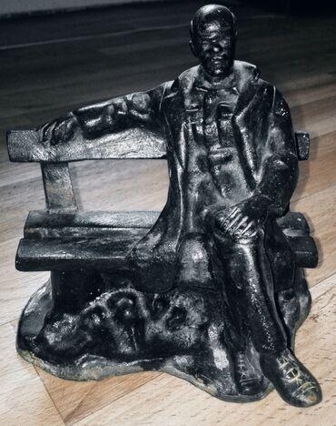 "Спорт и хобби - Кыргызстан: Продаю статуэтку ""Ленин на скамейке""Куса 1978 год. Материал чугун"