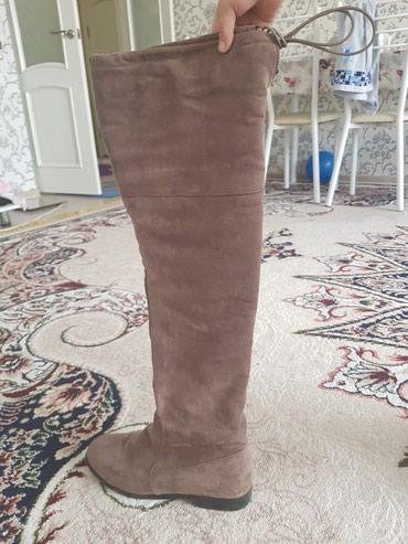 Зимние сапоги. 39- 40 размер. замшевые. Б/У . в Бишкек