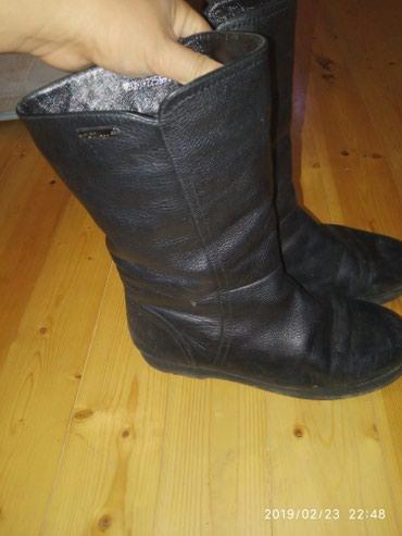 obuvzimnie 38 razmer в Кыргызстан: Женские сапоги кожаные, мех натуральный. на 38 размер