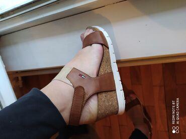 Ženska obuća | Kostolac: TOMMY HILFIGER original sandale kozne 37 savrsene bez Mana I