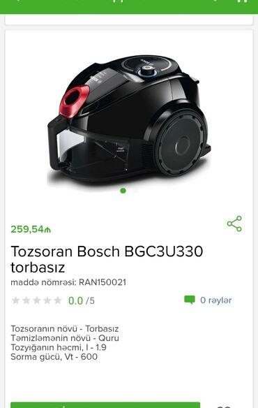 Tozsoran Bosch Tam zəmanətlə Nəğd və 1 kartla ödənişEvdən birbaşa