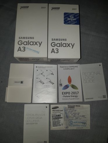 Samsung Galaxy A3 (КОРОБКИ) может кому то нужно в Бишкек
