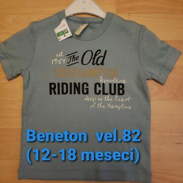 Dečiji Topići I Majice | Sombor: Beneton nova majica za decake, vel 82 (12-18 meseci)
