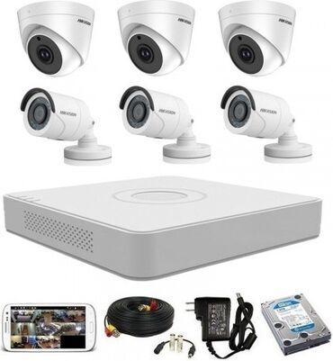 Камеры-видеонаблюдения - Кыргызстан: Продажа и установка видеонаблюдения. Комплект из 4 камер с работай. Эт