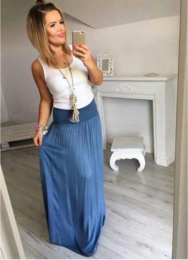Duga suknja novo.Rojal plave boje.Univerzalna veličina - Ub