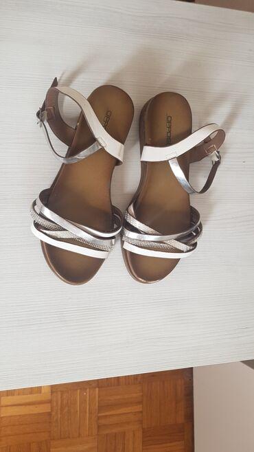 Opet sandale br - Srbija: Opossite sandale 2x obuvene ali imaju skinutu boju na vrhu,vidi se na