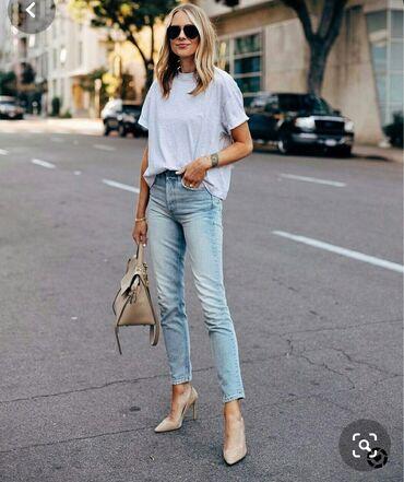 shtany hm в Кыргызстан: Продаю новые стильные джинсы женские H&M на высокой посадке, крой