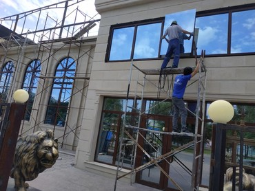 Остекление фасадов!Окна,Двери, Витражи,ПВХ, Алюминий! в Бишкек