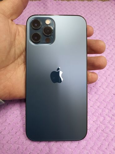 айфон 12 цена ош in Кыргызстан | ЗАРЯДНЫЕ УСТРОЙСТВА: IPhone 12 Pro | 128 ГБ | Синий Б/У | Гарантия, Беспроводная зарядка, Face ID