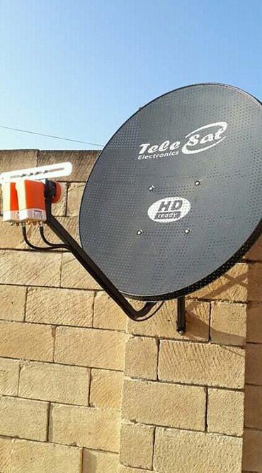 Sumqayıt şəhərində Krosna krosnu peyk sputnik antenna