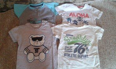 Dečiji Topići I Majice | Ruma: Četiri majice na kratak rukav za dečake 1 - 1,5 god, veličina 86
