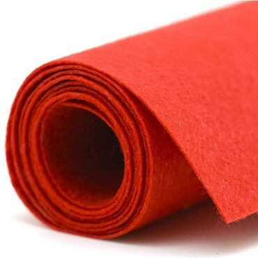 Фетр красный в рулоне