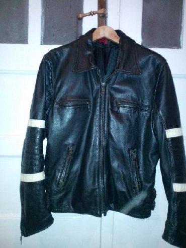 Jakne za motor - Srbija: Muška kožna jakna, br. 50.- boja crna. Malo korišćena, kvalitetna