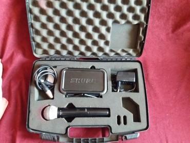 Studijski mikrofoni | Srbija: Na prodaju bežčni profesionalni mikrofon SHURE PG58 PGX2 . Mikrofon je