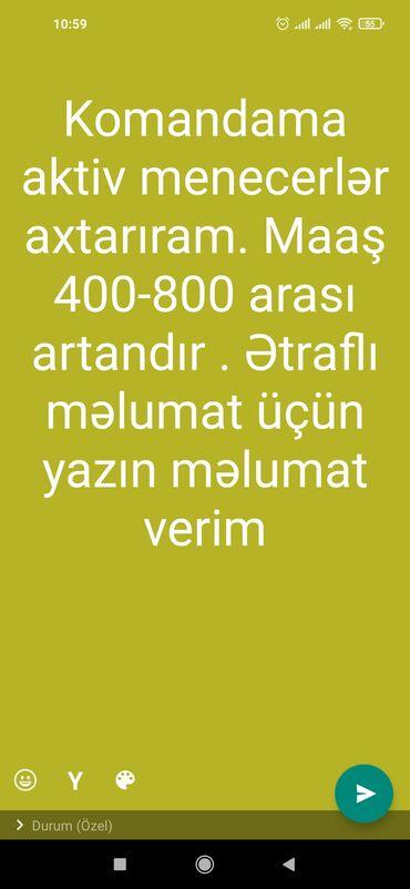 8 elan   İŞ: Şəbəkə marketinqi