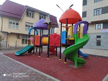 прием пластиковых бутылок в бишкеке в Кыргызстан: Детская площадка из ЭКО-пластика установлена в жилом комплексе строите