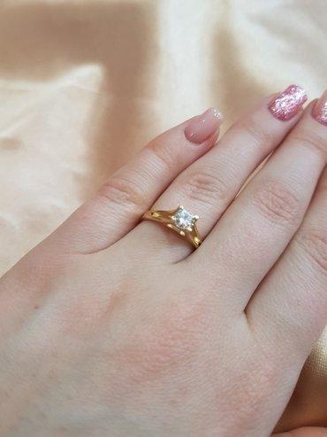 кольцо с бриллиантом(1кр57=0.5 5/3)размер кольца 17.0 в Бишкек