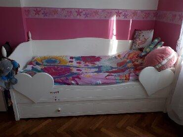 Jos-samo-po - Srbija: Krevet visoki sjaj,medijapan, ima fioku za jos jedan dusek,ocuvan bez