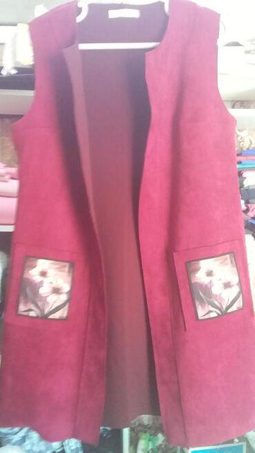 Женская одежда - Джал: Новый пиджак (цветет бордовый). Размер 48. За 250 сом