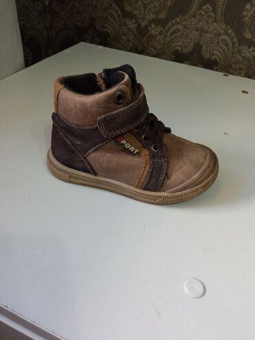 Детские флис - Кыргызстан: Детские ботинки с флисовым подкладом,кожаные в отличном