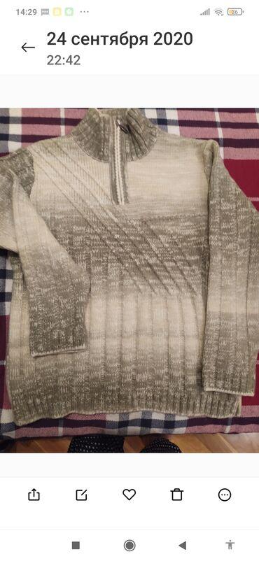 Новый свитер с этикеткой вязка с нат шерстяной.нитью 46размер