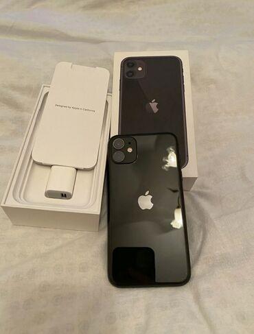 Электроника - Ат-Башы: IPhone 11 | 128 ГБ | Черный Б/У | Гарантия, Face ID, С документами