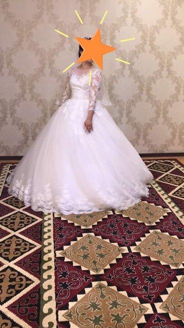 Свадебное платье. Напрокат. Имеются фата и кольцо самого пышного разме в Бишкек
