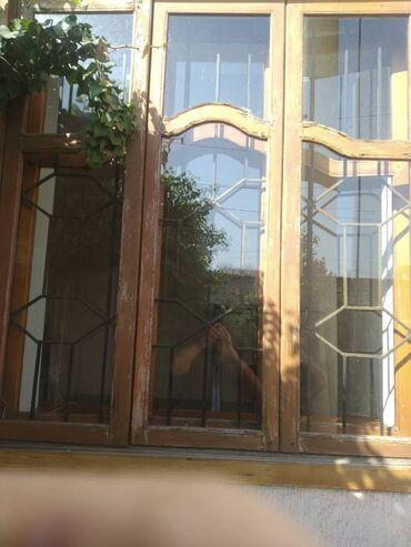подоконники бишкек in Кыргызстан | ОКНА: Окна деревянные в комплекте с решётками и подоконниками. Б/У . Размер