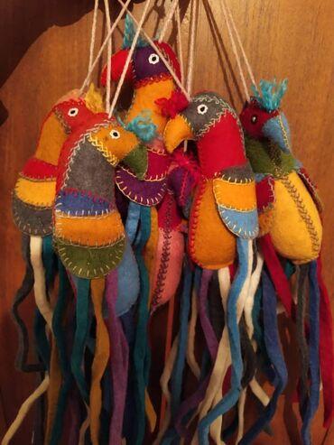 ИГРУШКИ ИЗ ВОЙЛОКА Только у насКрасивые, яркие попугайчики ручной