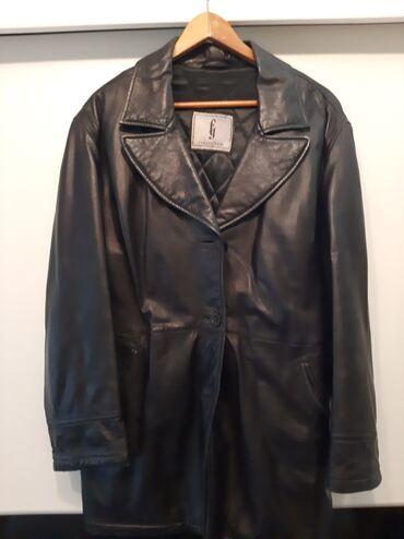 Jakne zenske - Srbija: Zenska kozna jakna crna velicina 46,postavljena