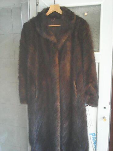 Krzneni kaputi - Kraljevo: Nerc - ženska dugačka bunda korišćena ali bez ikakvog oštećenja i bez