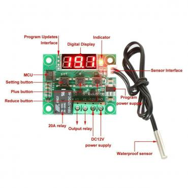 Термостат модель w1209 регулятор температуры от -50до +110с в Бишкек