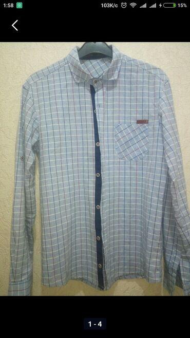 44-46 р. Муж. рубашка, класс., с длин. рукавом, лёгкая, теплая