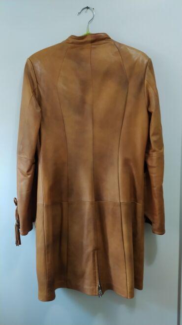 Женская одежда - Мыкан: Женский кожаный плащ, размер 42-44, состояние хорошее, смотрите