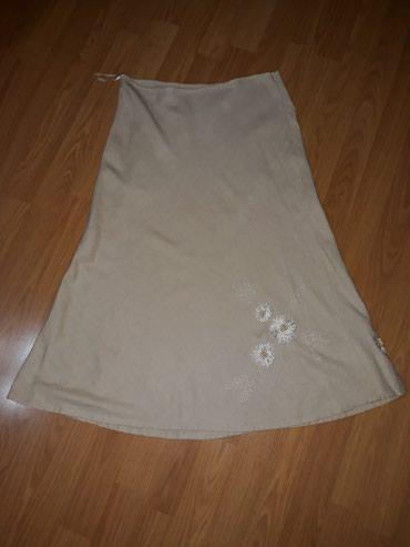 Suknja-hm-pamuk-elastin-cm-struk - Srbija: SNIZENJEEEEE. Suknja,55 % lan,duz.74 cm,struk 35 cm