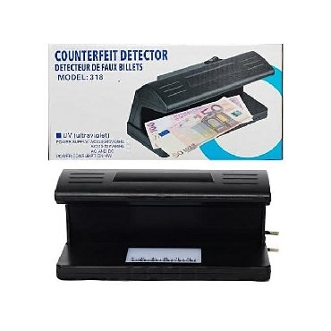 счетчик банкнот и детекторы валют в Кыргызстан: Ультрафиолетовый детектор валют counterfeit money detector model 318