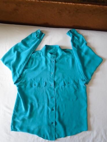 Svilena košulja + poklon. Plava italijanska košulja sa ruskom - Belgrade