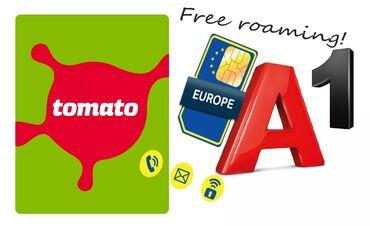 SIM | Srbija: SIM sa besplatnim EU romingom-A1 HR i Tomato HR-NA POPUSTU!***NA