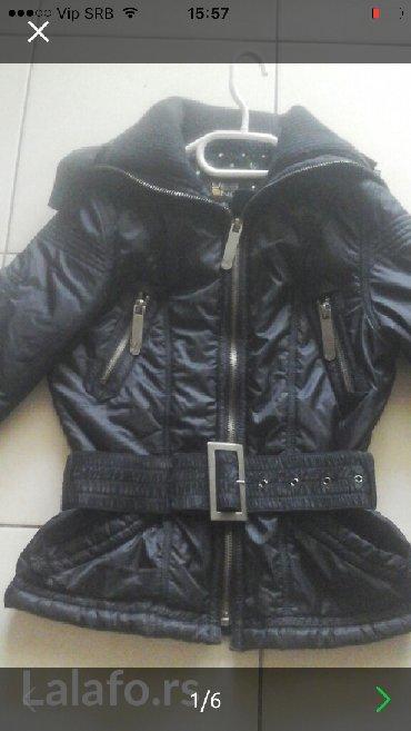 Olsen-crna-zenska-jakna-za-prelazno-vreme - Srbija: Ženska jakna vise je za prelazno vreme,super očuvana bez ostecenja,Vel