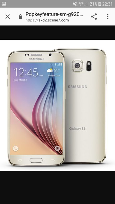 Samsung Galaxy S6 gold 64gb в Джалал-Абад