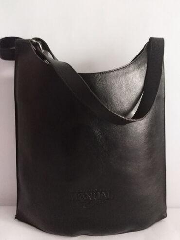 Manual torba - Srbija: MANUAL velika kožna torba prirodna kvalitetna 100%koža,prelep