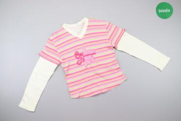 Дитячий лонгслів у смужку Sweet Girl    Довжина: 43 см Ширина плечей